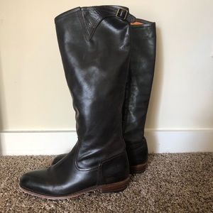 Dark Chocolate Buttery Soft Frye Boots Size 9.5